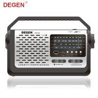 Chất lượng degen de320-in-xách tay fm sóng ngắn đầy đủ-band radio & máy nghe nhạc mp3 usb flash disk hỗ trợ thẻ tf nhiều băng đài phát thanh