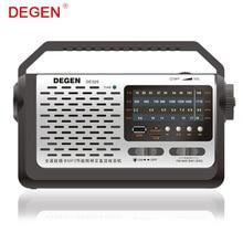 Quality Degen DE320 2-in-1 Portable FM Shortwave Full-Band Radio & MP3 Player USB Flash Disk Support TF Card Multiband Radio