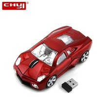 Chyi Wireless Mobil Mouse Mini Keren 3D Komputer Mouse Ergonomis USB Elektronik PC Gaming Mause Mice dengan LED Lampu untuk laptop(China)