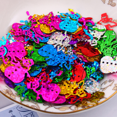 Hot 500pcs 20mm Snowman Loose sequins Mixed color Paillettes Sewing Wedding Craft Women Kids DIY Garment Accessory in Sequins from Home Garden