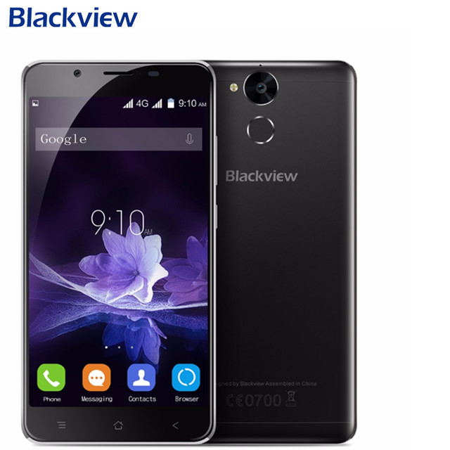 Blackview P2 lite 4 г смартфон 5,5 FHD MTK6753 Octa Core Android 7,0 3 ГБ Оперативная память 32 ГБ Встроенная память 13MP 6000 мАч отпечатков пальцев ID мобильного телефона