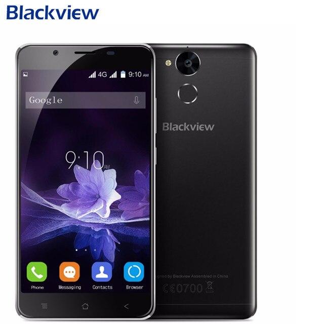 Blackview P2 lite 4G Smartphone 5.5 FHD MTK6753 Octa base Android 7.0 3 GB RAM 32 GB ROM 13MP 6000 mAh D'empreintes Digitales ID Mobile Téléphone