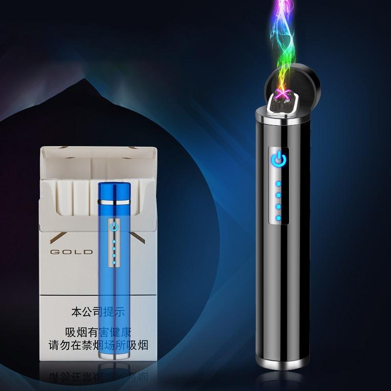 Plasma de Arco Isqueiro para Fumar Presente para Amigos de Plasma de Arco Eletrônico Recarregável Usb Dupla