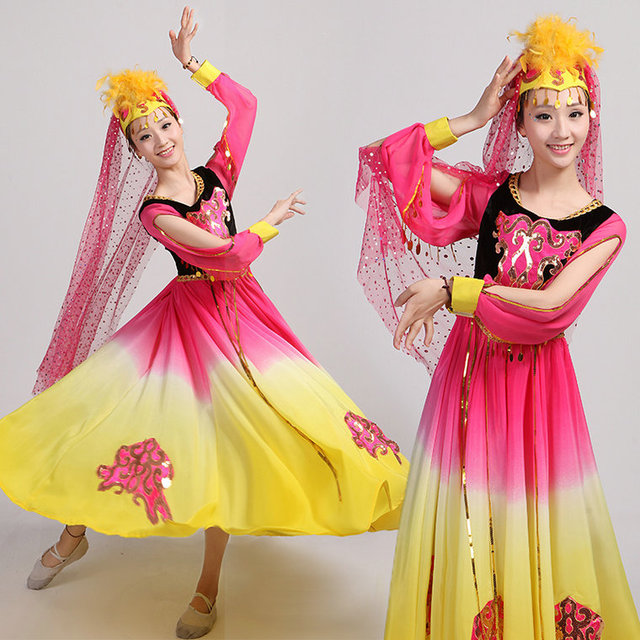 e428d53abb Disfraces Hmong Clothes 2017 New Uighur Costumes Chinese Folk Dance Dress  Xinjiang Characteristic Belly Indian Performance Wear