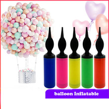 Mini Balloon Pump balloon accessories inflator hand push Air Birthday Party Supplies portable Latex Balloons