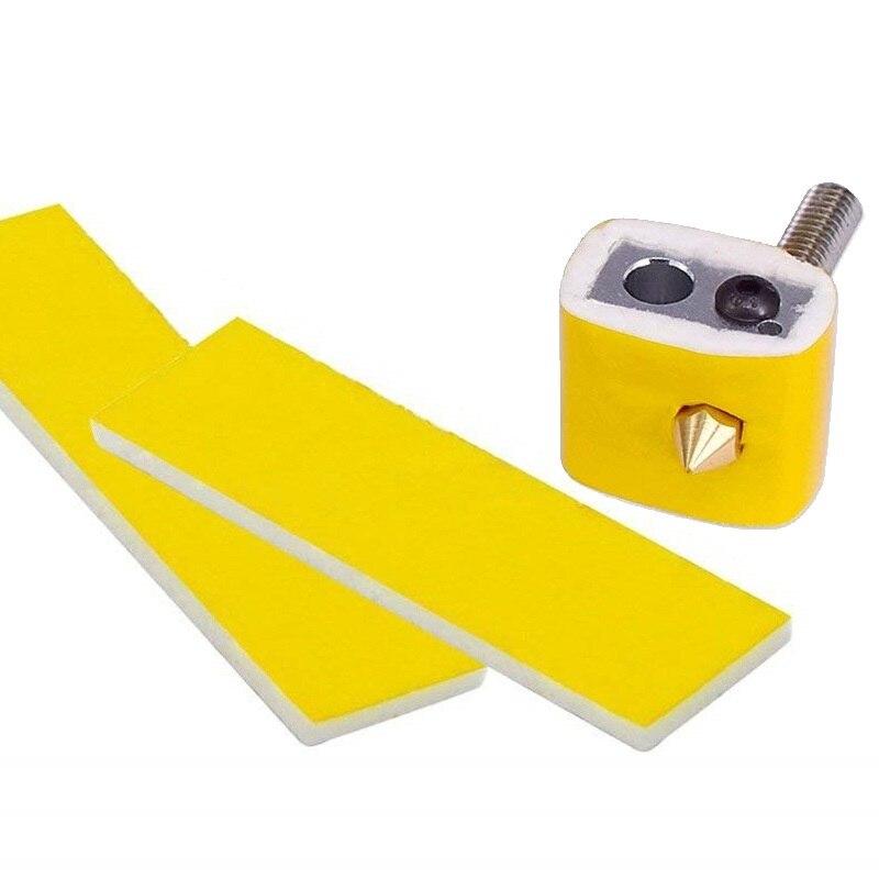 ホット! 10 ピース 3 ミリメートル厚さ 3d プリンタ加熱ブロック綿 hotend ノズル断熱綿 ultimaker/Makerbot