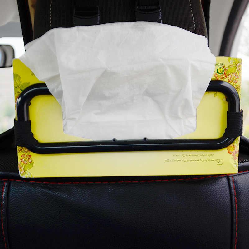 Coche de doble uso parasol silla soporte trasero caja de pañuelos cubierta de tejido para colgar caja de pañuelos accesorios de camión