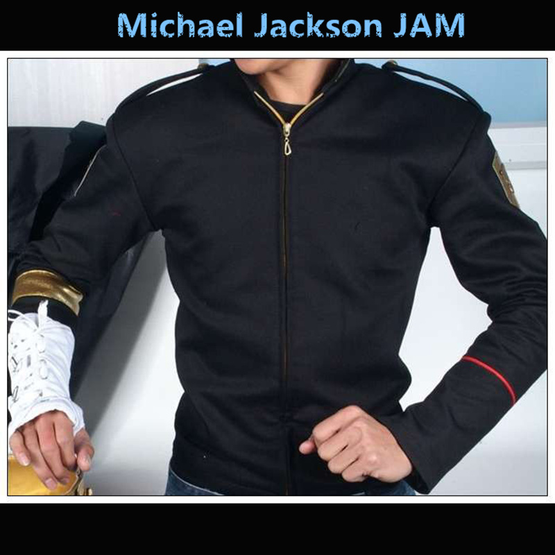 Rare MJ Michael Jackson Jam Dangerous Black Skinny Jacket And Glove Armbrace Cotton 100% in 1995s