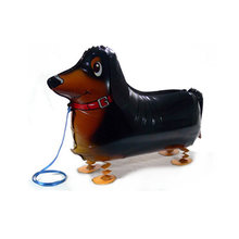 1pc cute cartoon dachshund sausage dog walking foil balloon for baby shower party decorations inflatable air balloon kids