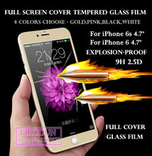 for iPhone 6s i6 i6s glass film full cover Preminum tempered glass screen protector protective film