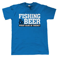 Fishing & Beer Mens Funny T Shirt - Carp Fly Sea Gift for Dad Birthday Tops Tee New Unisex free shipping