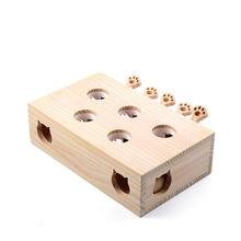 Hot Sale Pet Hamster Cat Toy with Five Holes Mouse Hole Cat Catch Bite Interactive Toy Puzzle Pet Supplies Puppy Toys