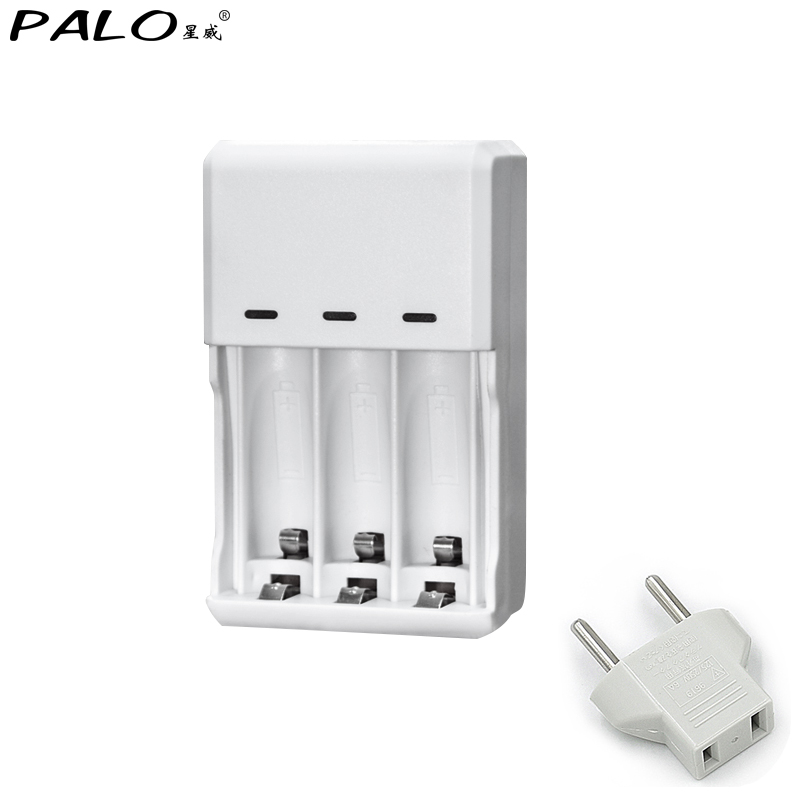 LED Intelligent Battery Charger For NI-MH NI-CD AA AAA Rechargeable Batteries 3 Slots Rated voltage 220V EU US Adapter