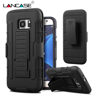 Black Rugged Hybrid Hard Case For Samsung Galaxy A3 A5 A7 Case Belt Clip With Holster