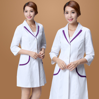 medical uniforms Hospital Lab Coat Korea Style Women Hospital Medical Scrub Clothes Uniform Breathable women work wear blouses image
