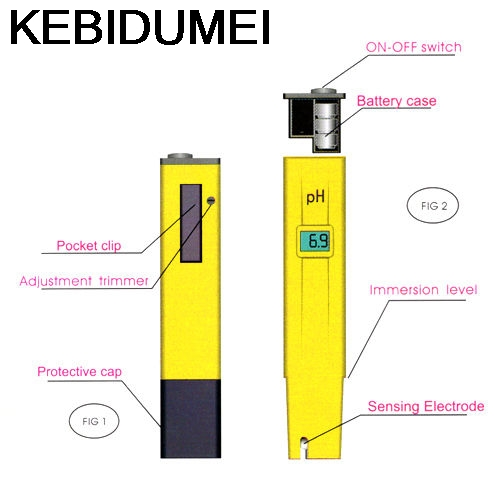 2016 Portable Pocket Pen Water Ph Meter Digital Tester Quality