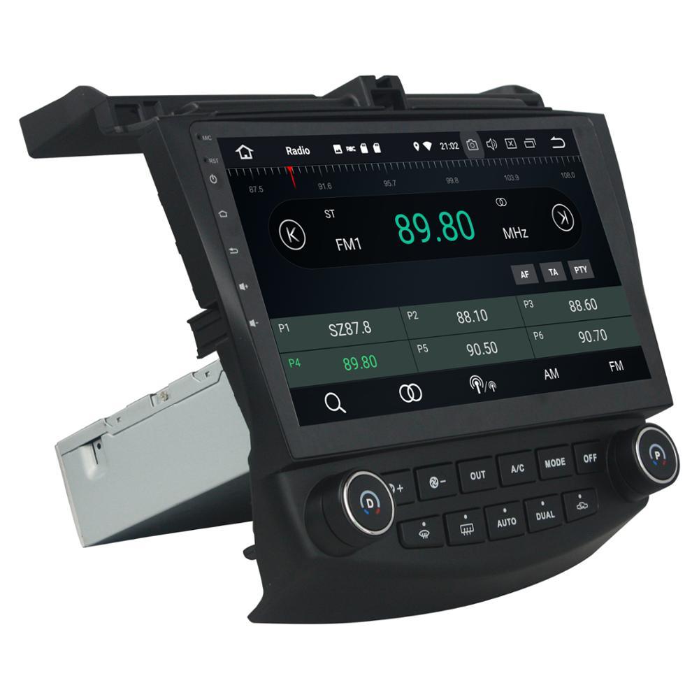 4 GB RAM Octa Core 10.1 Android 8.0 lecteur Audio DVD de voiture pour Honda Accord 7 2003-2007 avec GPS Radio Bluetooth WIFI USB 32 GB ROM