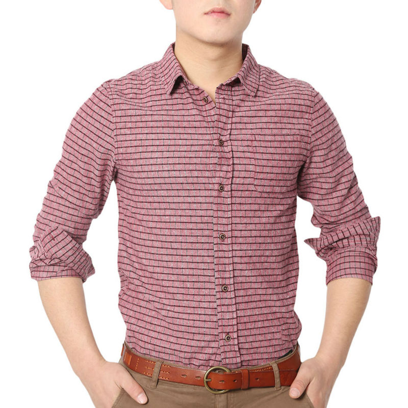 Aliexpress.com : Buy Leisure Plaid Check Shirts Men Long Sleeve ...