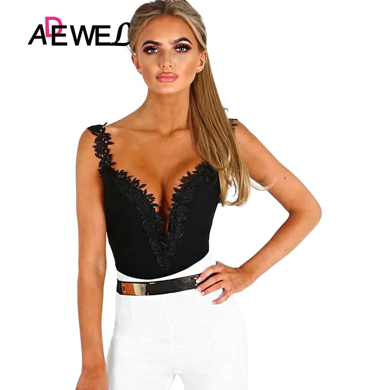 Black-Crochet-Plunge-Bodysuit-LC32221-2-2