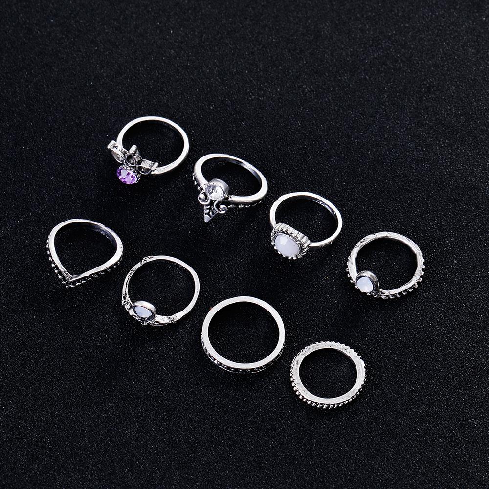 HTB1uCEYQVXXXXbRaXXXq6xXFXXXJ 8-Pieces Bohemian Vintage Retro Lucky Stackable Midi Ring Set For Women - 2 Colors