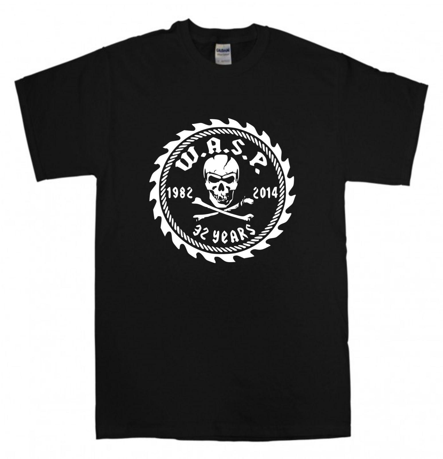 W.A.S.P. T-shirt New Black t shirt S-XXL WASP Band Heavy Metal 80s Judas Priest