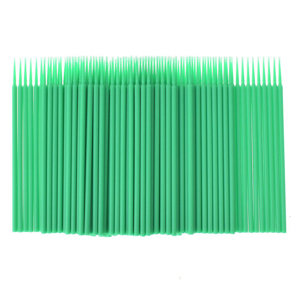 TOP 6 Colors 100pcs Double Head Disposable Swab Fiber Buds Plastic Sticks Eyebrow Eyelash Make Up Tools