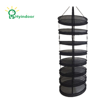 Hyindoor Detachable Harvest Dry Rack Wire mesh Laundry Bags Hanging Herb Drying Clothes Basket  8 Tiers Diameter 60cm