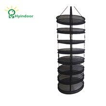 Hyindoor, estante seco desmontable para la cosecha, bolsas de lavandería de malla de alambre, cesta para secar hierba, cesta de ropa, 8 niveles de diámetro, 60cm