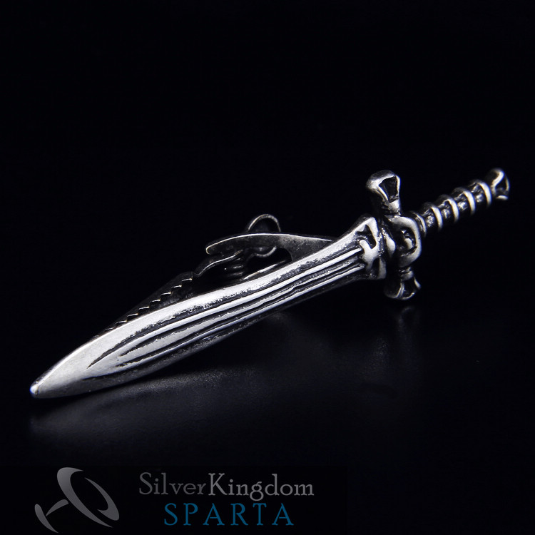 SPARTA Middle Ages Sword tie clips Silver plated High quality metal men s free shipping