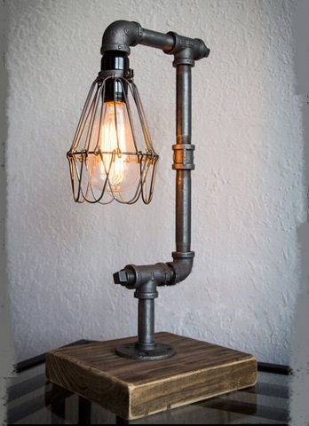 Edison industrialiron настольные лампы Loft ретро ветер личность водопроводные трубы кафе декоративные Творческий Настольная лампа ZA SG39