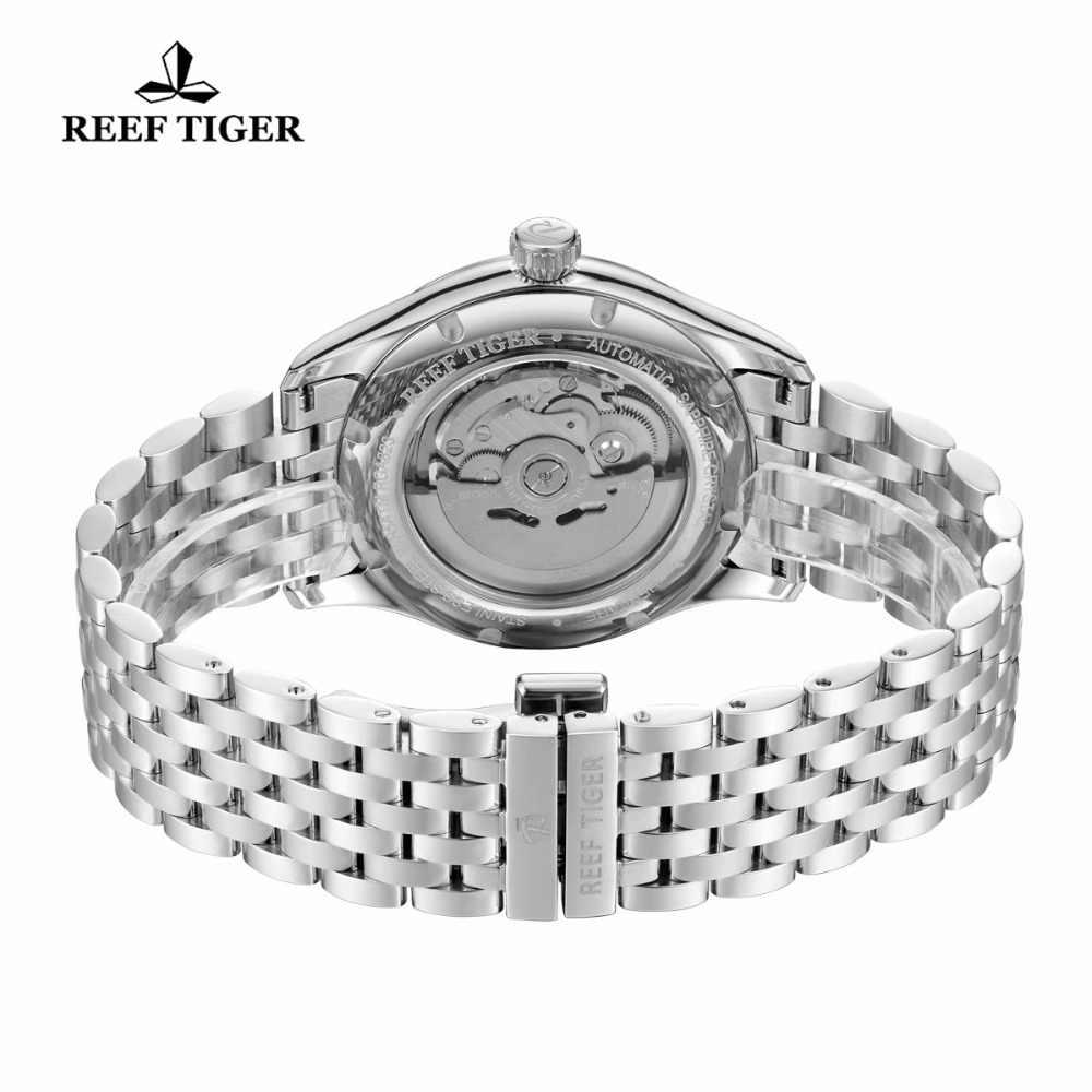 2020 reef tiger/rt vestido de luxo relógio para homem pulseira aço inoxidável mostrador azul relógios pulso automático rga8232