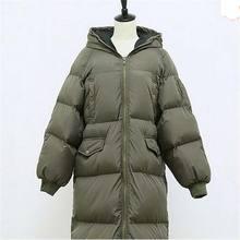 Любители мягкий 2016 случайные свободные плюс размер ватные куртки хлопка ватник долго куртка с капюшоном вниз пальто зимняя куртка женщин