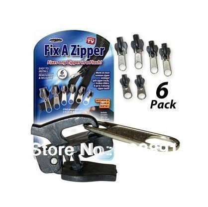 Free Shippinfg Fix A Zipper Repair Rescue kit No Tools Required,6 pcs per Pack