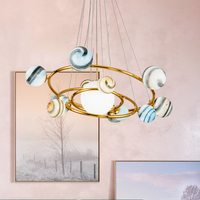 Creative Planet Chandelier Nordic Light Clothing Store Cafe Decorative Lamp Living Room Bedroom Bar Fantasy Child Room Lighting