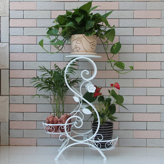 US $59 0 |3 Tier Plant Stand Indoor Outdoor Plant Corner Shelf Flower Pot  Plant Holder Planters Display Rack-in Storage Holders & Racks from Home &