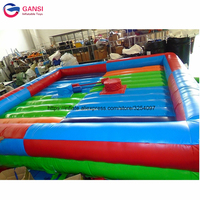 Funny wipeout challenge sports inflatable boxing ring fighting arena inflatable gladiator jousting game