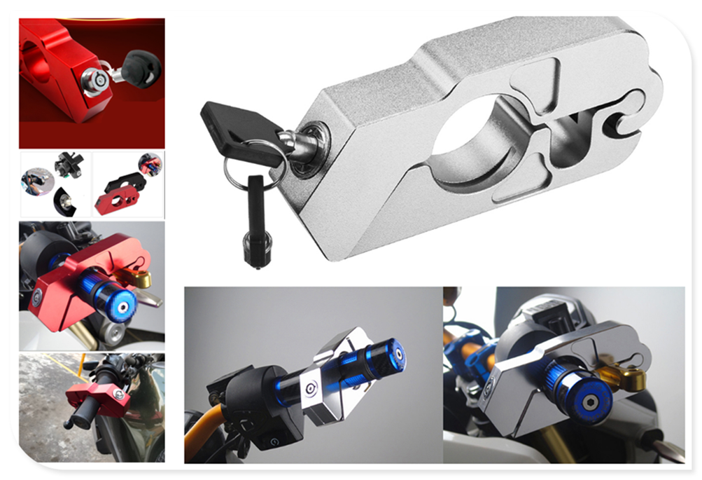 Motorcycle ATV Aluminum Alloy Anti-theft Security Lock Handle Brake For Aprilia RSV4 RSV4 FACTORY SHIVER GT TUONO R TUONO