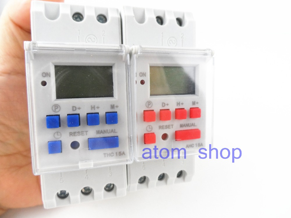 100pcs thc15a Din rail timer relay time switches weekly programmble electronic TIME SWITCH 220V  bell ring device 2pcs lot brand new sul 181d analog 24 hours mechanical din rail timer switch 15minutes