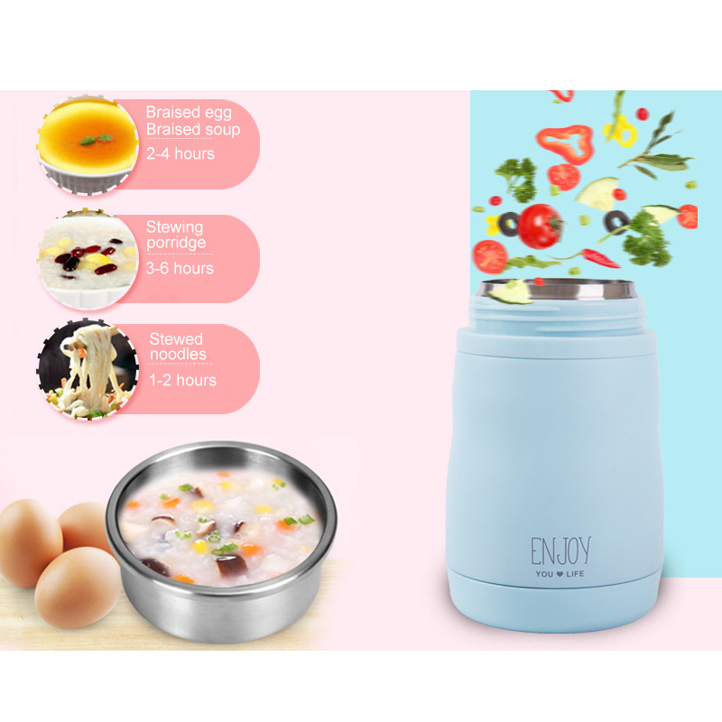 Hot Sale 400ml Durable Stainless Steel Food Soup Thermal Cup Lunch Container Outdoor Sports Camping Picnic Tableware Equipment