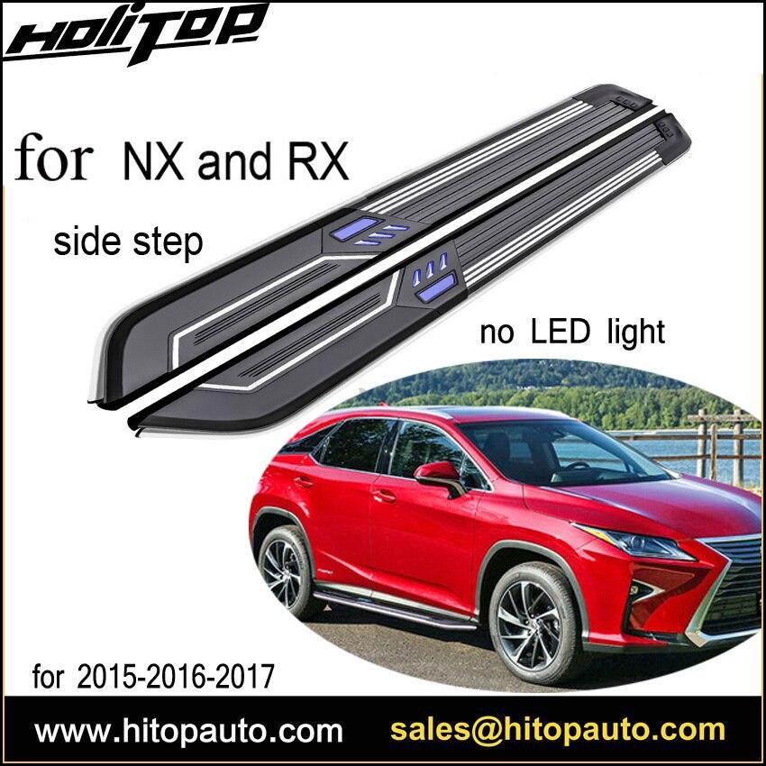 Новое прибытие NX NX200T NX300h RX RX200T RX350 Бег подножка бар, с светодиодный свет, наивысшего качества, С ISO9001 сертификат
