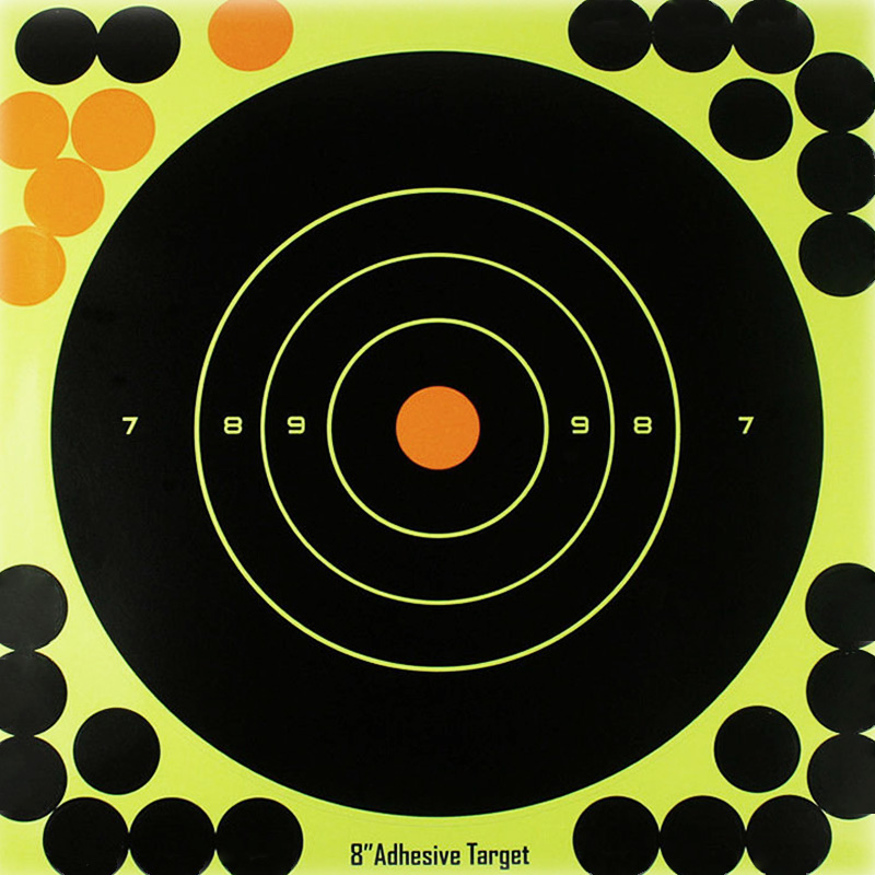 """50PCS Adhesive Shooting Targets Glow Shot Reactive  8"""" Splatter Gun and Rifle Target Paper-in Paintball Accessories from Sports & Entertainment"""