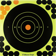 "50PCS Adhesive Shooting Targets Glow Shot Reactive  8"" Splatter Gun and Rifle Target Paper"