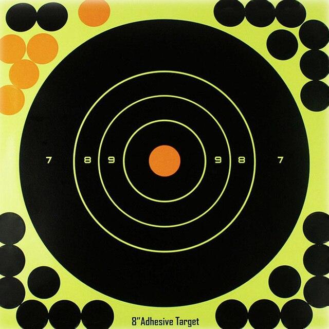 """50PCS Adhesive Shooting Targets Glow Shot Reactive  8"""" Splatter Gun and Rifle Target Paper"""