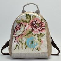 c0bfd601081d5 ... okul sırt çantası Çin tarzı kadınlar için çanta. Teklifi Göster. 2018  Top Quality Women Canvas Backpack Chinese Ethnic Floral Embroidered Bookbag  Female ...