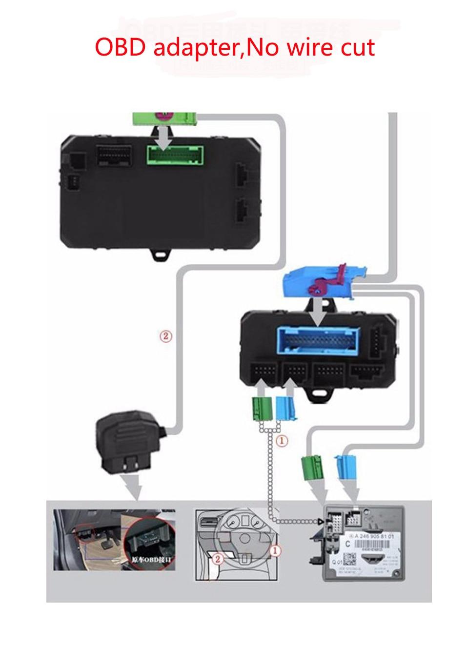 Système D'entrée sans clé Aucun Fil Cut No Clé Cassé Smartphone GSM GPS De Voiture Serrure/déverrouiller + Fenêtre Plus Étroite Pour Audi A6L A4L Q5