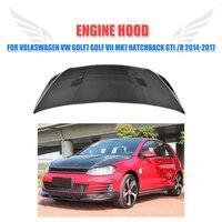 Carbon fiber Front Engine Hood bonnet Trunk Cover for Volkswagen VW Golf7 Golf VII MK7 Hatchback GTI R 2014 2017