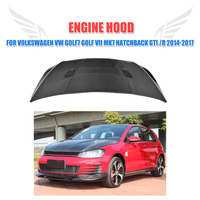 Carbon fiber Front Engine Hood bonnet Trunk Cover for Volkswagen VW Golf7 Golf VII MK7 Hatchback GTI R 2014 2017