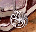 Fashion The Song Of Ice And Fire Daenerys Targaryen Dragon Badge Necklace Game Of Thrones Unisex Necklaces Of Juego De Tronos