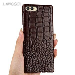 Image 3 - wangcangli For Huawei Honor 6X phone case Luxury handmade genuine crocodile leather back cover