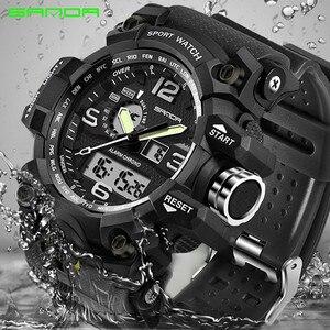 Image 2 - SANDA top luxury brand G style mens military sports watch LED digital watch waterproof mens watch Relogio Masculino